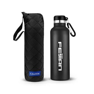 FEIJIAN 1リットル 水筒 ステンレスボトル 直飲み 真空二重構造 保温 保冷 スポーツボトル 漏れなし 魔法瓶 ウォ