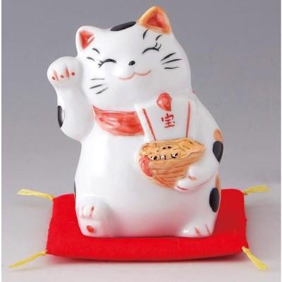 財福招き猫 宝船(磁器)