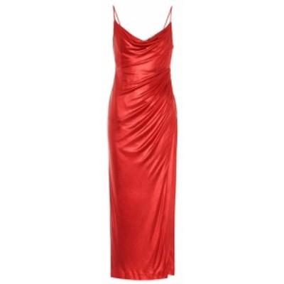 ガルバン Galvan レディース ワンピース ワンピース・ドレス Mars metallic jersey slip dress Metallic Red