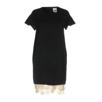MY TWIN TWINSET ミニワンピース&ドレス ブラック XXS ポリエステル 100% ミニワンピース&ドレス
