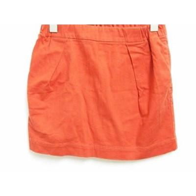 【中古】B&Y ユナイテッドアローズ BEAUTY&YOUTH ビューティー&ユース ミニスカート 台形 ポケット オレンジ  レディース