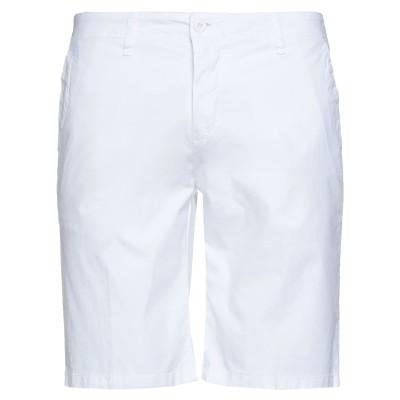 LIU •JO MAN バミューダパンツ ホワイト 48 コットン 98% / ポリウレタン 2% バミューダパンツ