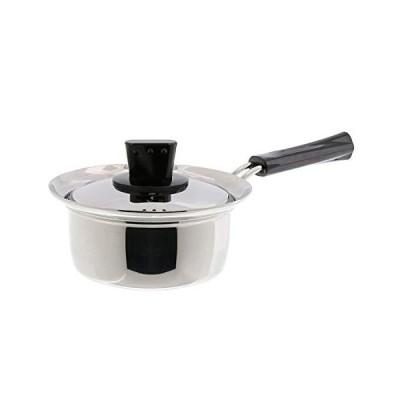 ベストコ ソースパン ミラー仕上げ 14cm ネオ・プラティーヌ 吹きこぼれにくい ステンレス鍋 IH ND-6041