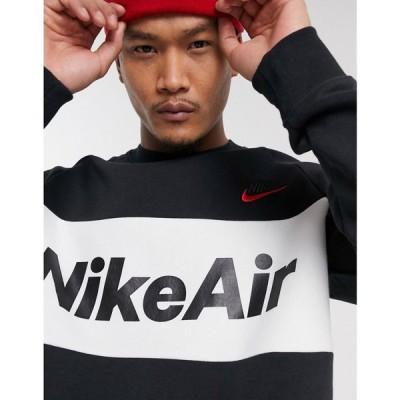 ナイキ Nike メンズ スウェット・トレーナー トップス Air crew neck sweat in black ブラック