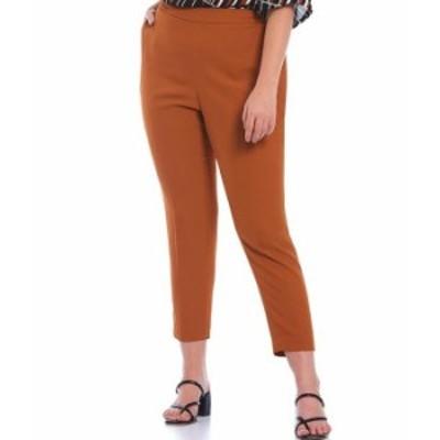 カルバンクライン レディース カジュアルパンツ ボトムス Plus Size Stretch Woven Slim Skinny Leg Pull-On Pants Almond