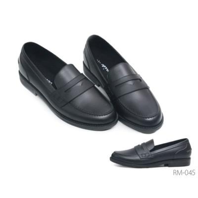 レイン ローファー RM045 045 ラバー素材 シンプル 雨 通勤 通学 靴