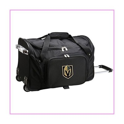 NHL Vegas Golden Knights Wheeled Duffel Bag, 22-inches, Black【並行輸入品】