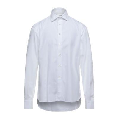 BRANCACCIO シャツ ホワイト 44 コットン 100% シャツ