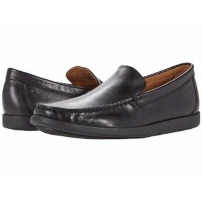クラークス メンズ スリッポン・ローファー シューズ Ferius Creek Black Leather
