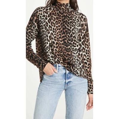 ガニー GANNI レディース ニット・セーター トップス Print Knit Sweater Leopard