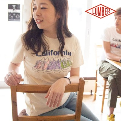 【 LUMBER ランバー 】 ユースTシャツ CALIFORNIA 半袖Tシャツ 191216 / ランバー Tシャツ 半袖Tシャツ プリントTシャツ アメカジ カジュアル