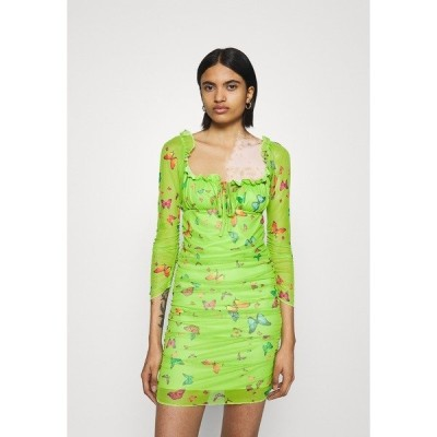 ニューガールオーダー ワンピース レディース トップス BUTTERFLY DRESS - Day dress - green