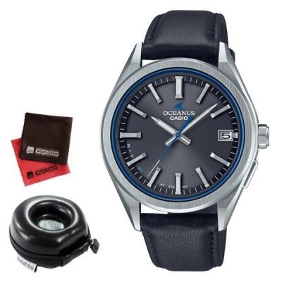 (丸型時計ケース・クロス付)カシオ CASIO 腕時計 OCW-T200SCE-8AJR オシアナス OCEANUS メンズ Bluetooth搭載 電波ソーラー 牛革バンド(国内正規品)