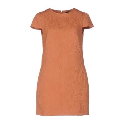ELISABETTA FRANCHI ミニワンピース&ドレス サーモンピンク 44 ポリエステル 54% / コットン 42% / 指定外繊維 4%