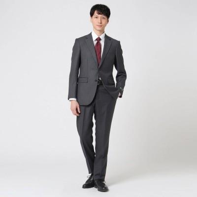 タケオ キクチ TAKEO KIKUCHI バンカーストライプアマデウススーツ (チャコールグレー)