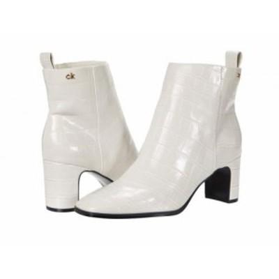 Calvin Klein カルバンクライン レディース 女性用 シューズ 靴 ブーツ アンクル ショートブーツ Deni Soft White Croco【送料無料】