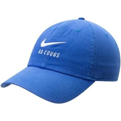 ユニセックス スポーツリーグ アメリカ大学スポーツ BYU Cougars Nike Big Swoosh Heritage 86 Adjustable Hat - Royal - OSFA 帽子