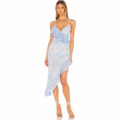 エヌビーディー NBD レディース ワンピース ミドル丈 ワンピース・ドレス Victoria Midi Dress Ice Blue