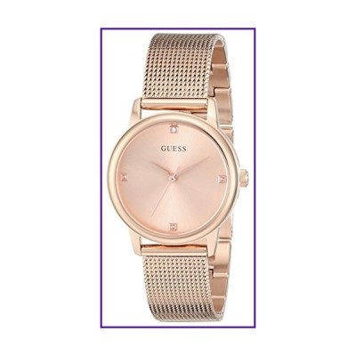 GUESS Genuine Diamond Dial Rose Gold-Tone Mesh Bracelet Watch. Color: Rose Gold-Tone (Model: U0532L3) 並行輸入品