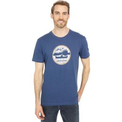 ライフイズグッド Life is Good メンズ Tシャツ トップス Canoe Coin Crusher(TM) Tee Darkest Blue