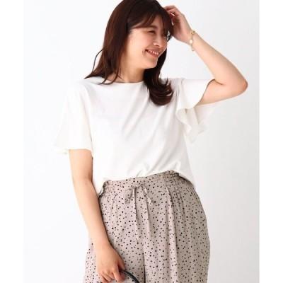 tシャツ Tシャツ SUPIMAスムース フレアスリーブトップス【WEB限定サイズ】
