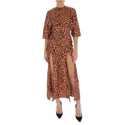 アティコ レディース ワンピース トップス Attico Leopard Printed Slit Dress -