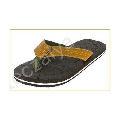 Kaiback Men's Wayfinder Comfort Flip Flop Beach Sandal (10/11, Brown)【並行輸入品】