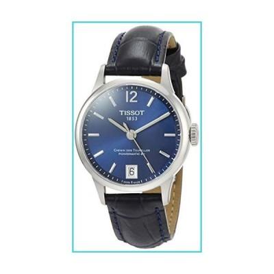 Tissot Chemin des Tourelles Powermatic 80 Blue Leather Watch 32mm T099.207.16.047.00【並行輸入品】