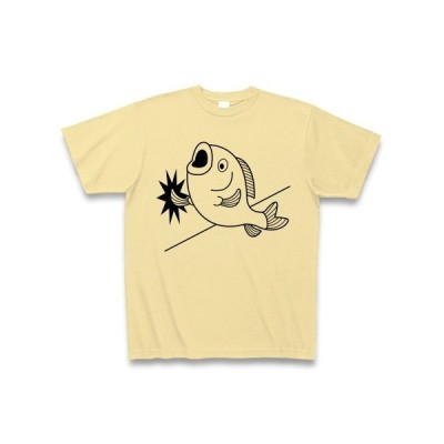 壁ドン魚 Tシャツ(ナチュラル)