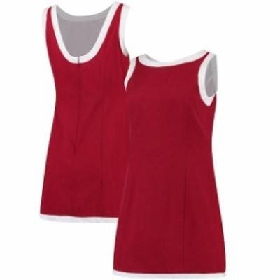 Lauren James ローレン ジェームス スポーツ用品  Lauren James Womens Crimson/White The Harper Seersucker Dress