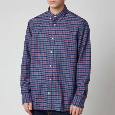 ガント Gant メンズ シャツ ワイシャツ トップス Oxford Check Shirt - Mahogany Red Blue