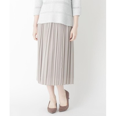 CORDIER(コルディア) 「Lサイズ」スエードタッチサテンプリーツスカート