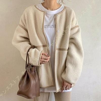 レディース 裏ボア コーデュロイ ジャケット 中綿コート ダウンコートアウター 裏起毛コート 防寒コート 女性用コート あったか 厚手 シンプル カジュアル