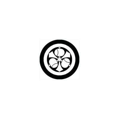 家紋シール 丸に剣三つ槌紋 直径24cm 丸型 白紋 KS24M-0519W