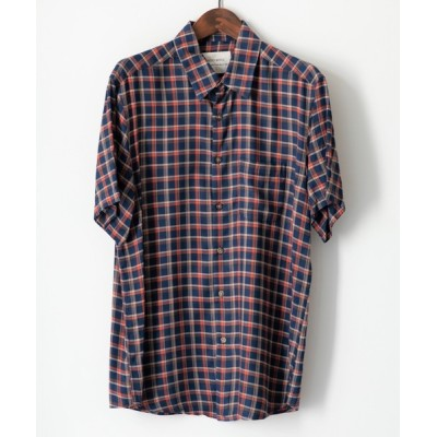 シャツ ブラウス MINS MINIS/ミンス ミニス/チェックレギュラーカラー半袖シャツ