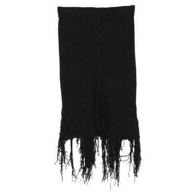 ドンダップ DONDUP ひざ丈スカート ブラック 44 コットン 55% / ナイロン 26% / 麻 14% / ナイロン 5% ひざ丈スカート