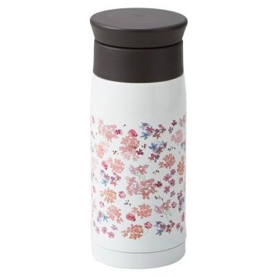 ステンレスボトル おしゃれ ( フェリー ステンレスボトル シャクナゲ ) 電子レンジ不可 食洗機不可 おしゃれでかわいいイラスト付 日本製