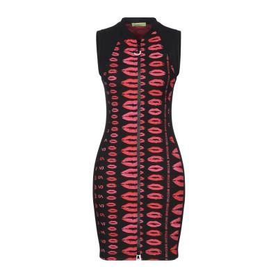 VERSACE ミニワンピース&ドレス ブラック 46 ナイロン 65% / ポリウレタン 35% / コットン ミニワンピース&ドレス