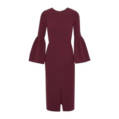 IRIS & INK 7分丈ワンピース・ドレス ボルドー 10 ポリエステル 100% 7分丈ワンピース・ドレス