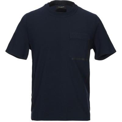 パオロ ペコラ PAOLO PECORA T シャツ ダークブルー M コットン 95% / ポリウレタン 5% T シャツ