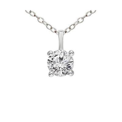 IGI Certified Natural Diamond Pendant 10K White Gold 3/4 carat 100% Real Diamond Flat Prong Solitaire Pendant For Women (3/4 CTTW, HI Color,