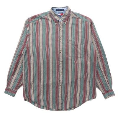 TOMMY トミーヒルフィガー ボタンダウンシャツ ストライプ 長袖 マルチカラー サイズ表記:S