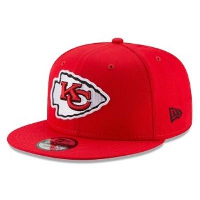 ニューエラ メンズ 帽子 アクセサリー Kansas City Chiefs New Era Basic 9FIFTY Adjustable Snapback Hat Red