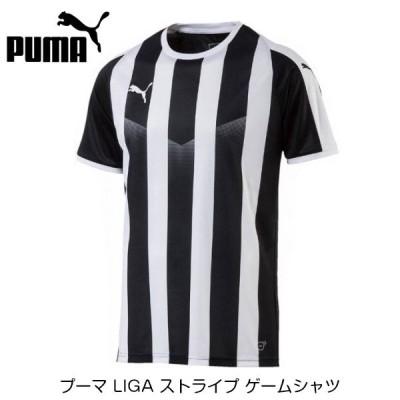 [お取り寄せ] プーマ LIGA ストライプ ゲームシャツ [ブラック/ホワイト]