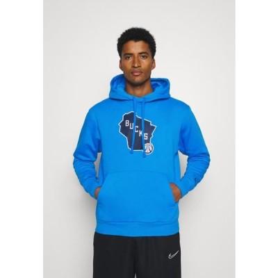 ナイキ メンズ ファッション NBA MILWAUKEE BUCKS CITY EDITION ESSENTIAL HOODIE - Club wear - photo blue
