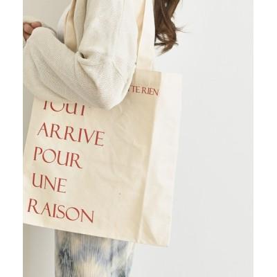UNE MANSION / レタリングキャンバストートバッグ WOMEN バッグ > エコバッグ/サブバッグ