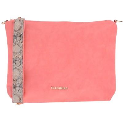 FRACOMINA ハンドバッグ サーモンピンク ポリウレタン 80% / コットン 20% ハンドバッグ