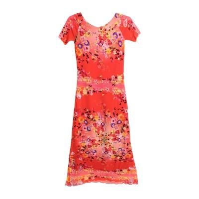 FUZZI ロングワンピース&ドレス オレンジ S ナイロン 100% ロングワンピース&ドレス