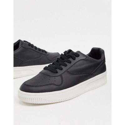 ニュールック New Look メンズ スニーカー シューズ・靴 trainers in black ブラック