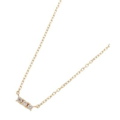 ネックレス ダイヤモンド3石 チョーカー